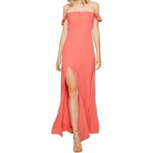Flynn skye coral Bardot dress